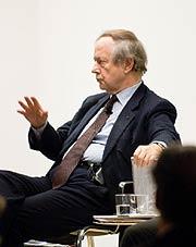 Werner Spies auf dem Podium