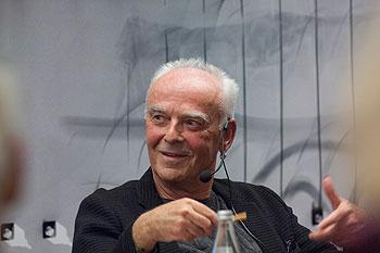 Jürgen Klauke auf dem Podium