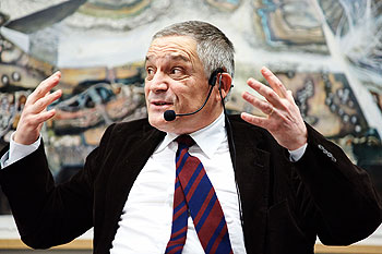 Jean-Baptiste Joly auf dem Podium