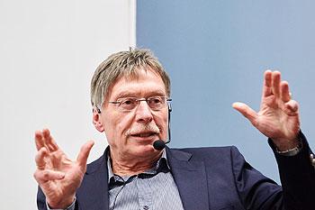 Peter Klein auf dem Podium